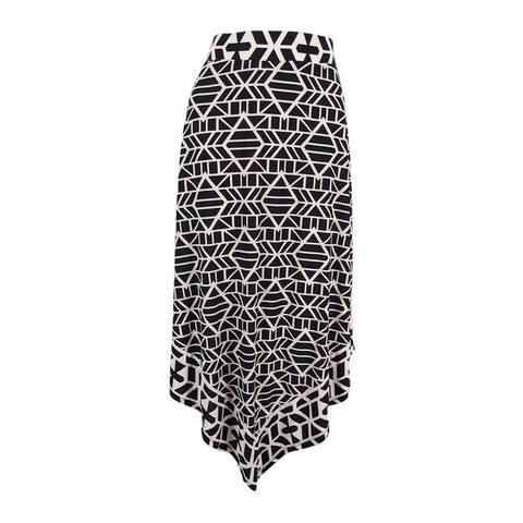 INC International Concepts Women's Handkerchief-Hem Skirt (Tribal Stacks, S) - Tribal Stacks - S
