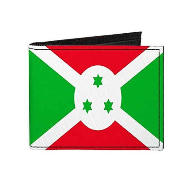 Buckle-Down Canvas Bi-fold Wallet - Burundi Flag Accessory