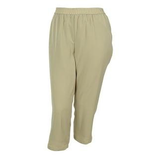 Calvin Klein Women's Elastic Waist Polyester Fabric Pants - 3x