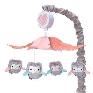 Link to Lambs & Ivy Sweet Owl Dreams Gray/Pink Musical Baby Crib Mobile Soother Toy Similar Items in Bedding Sets