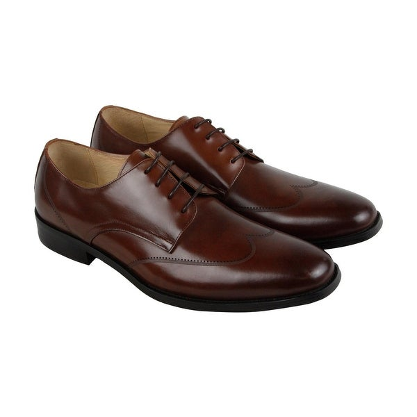 Kenneth Cole New York Leisure-Wear Mens Brown Casual Dress Oxfords Shoes