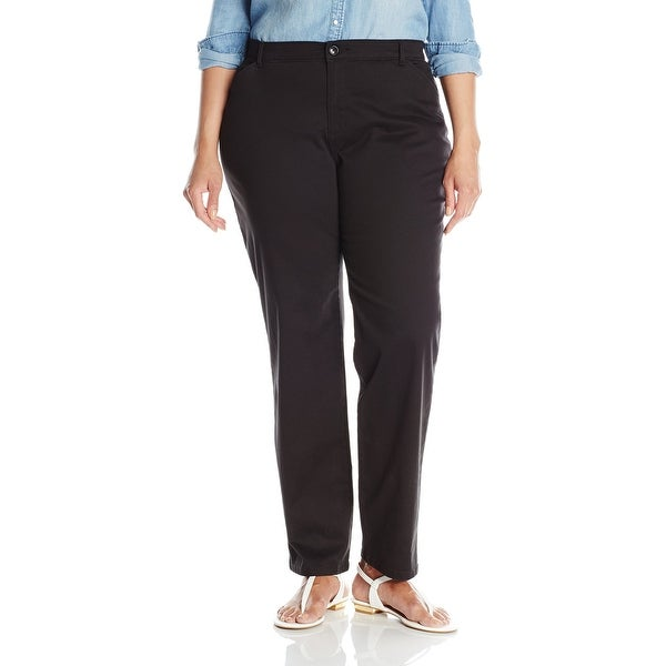 225bf1f7 Shop Lee Black Women's Size 20W Plus Straight Leg Relaxed Fit Pants ...
