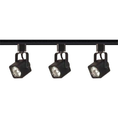 Nuvo Lighting TK346 Three Light MR16 Square 120V Track Kit - Black