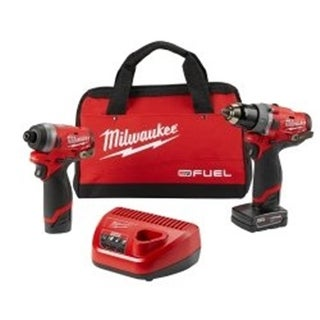 2 Piece M12 Fuel Kit- 0.5 in. Hammer Drill & 0.25 in. Impact