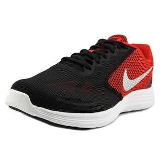 Nike Revolution 3 Men 4E Round Toe Synthetic Red Running Shoe