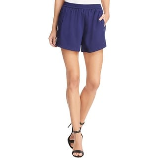 Sunco Womens Juniors Bennet Casual Shorts Solid Flat Front