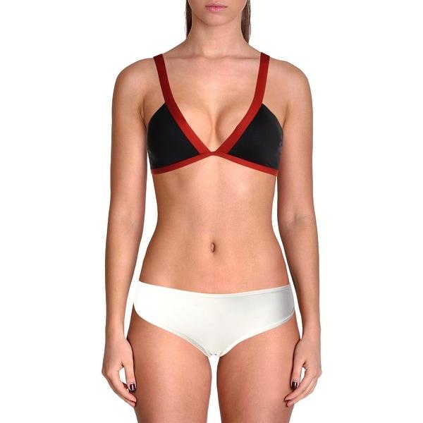 cb666bf4f3d93 Shop L Space Womens Farrah Contrast Trim Solid Swim Top Separates ...