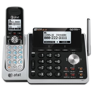 At&T Tl88102 2-Line Answering System With Dual Caller Id/Call Waiting