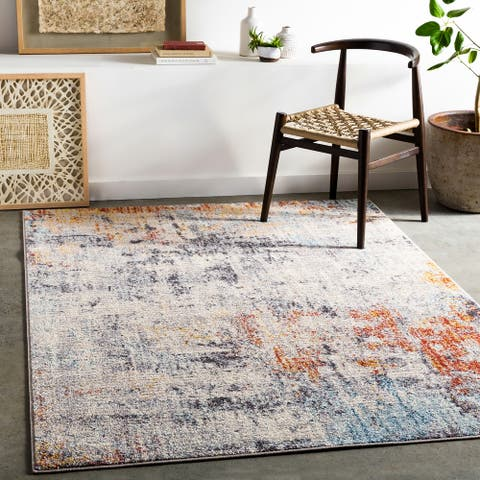 Lonnie Industrial Abstract Area Rug