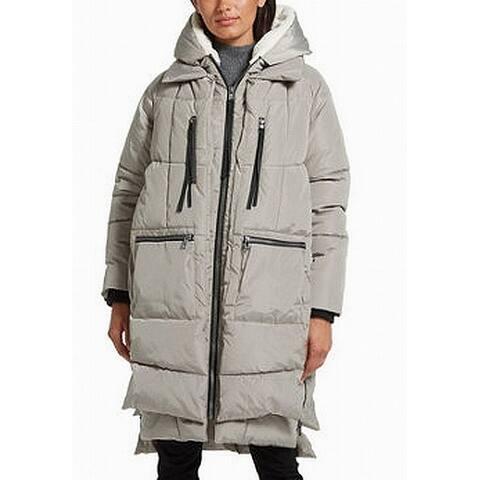 Gallery Womens Coat Beige Size XL Puffer Sherpa Lined Hood Full Zip