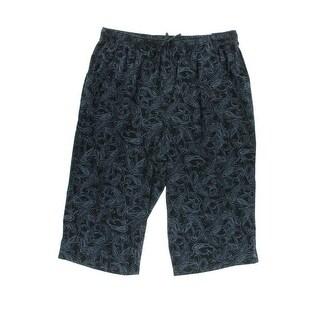 Karen Scott Womens Paisley Comfort Waist Capri Pants - 3X