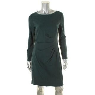 Lauren Ralph Lauren Womens Emari Wear to Work Dress Faux Suede Trim Winter