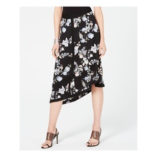 INC Womens Black Floral Midi Skirt  Size 4