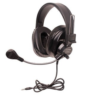 Califone 3066BKT Deluxe Stereo Headset with To Go Plug, Black