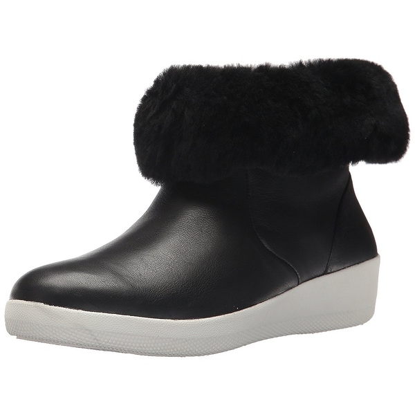 9838c9d14f5b ... Women s Shoes     Women s Boots. FitFlop Women  x27 s Skatebootie  Leather Shearling Ankle Boot