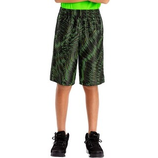 Hanes Sport Boys' 10-inch Performance Dazzle Shorts - Color - Edge Geo/Black - Size - 2XL