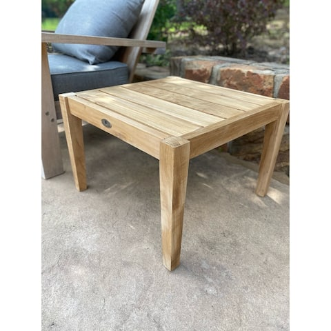 Posh Pollen Clearwater Outdoor Patio Teak Square Side Table