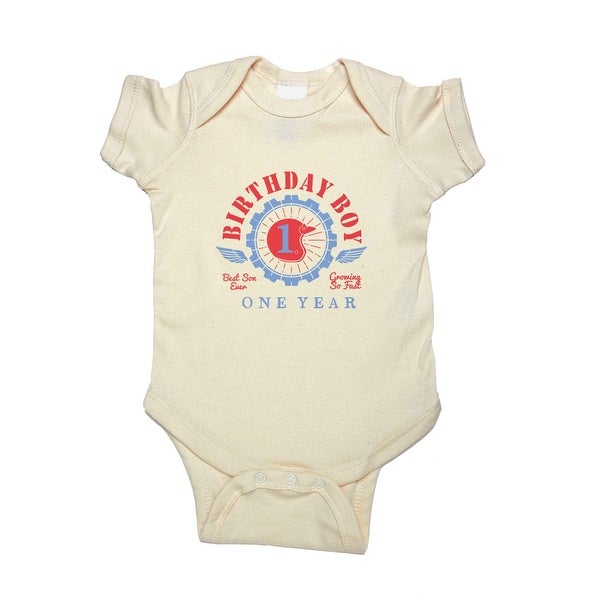 Baby Boys 1st Birthday Graphic Short Sleeve Bodysuit