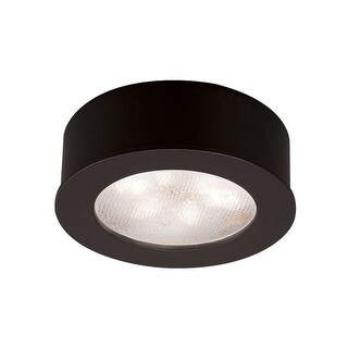 "WAC Lighting HR-LED87 2.25"" Wide 3000K High Output LED Round Under Cabinet Puck Light"