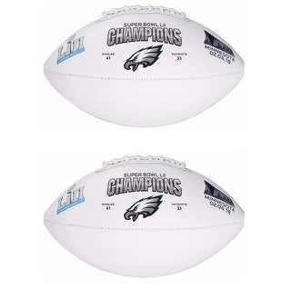 Rawlings Philadelphia Eagles Super Bowl LII 52 Champions Football (2 Pack)