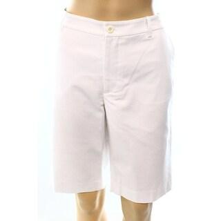 Lauren Ralph Lauren NEW White Women's Size 8 Stretch Solid Shorts