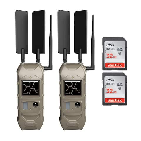Cuddeback CuddeLink Dual Cell K-5789 Trail Camera (2Pk) with Cards Kit