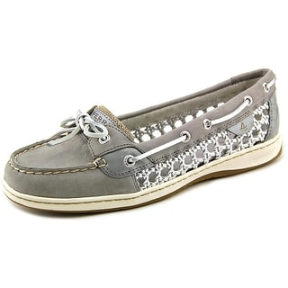 Sperry Top Sider Angelfish Women Moc Toe Leather Gray Boat Shoe