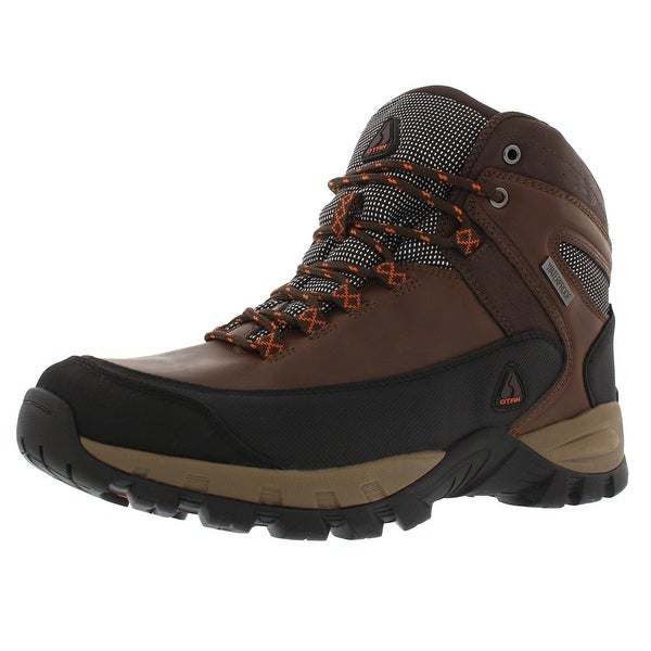 OTAH Forestier Men's Waterproof Hiking Mid-Cut Brown/Black Shoes