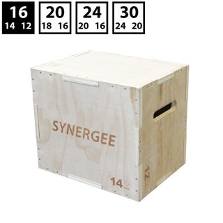 Synergee 3 in 1 Wood Plyometric Box for Jump Training and Conditioning - 16/14/12