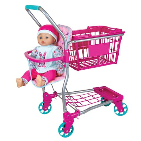 Lissi Baby Doll Shopping Cart w/ 16 inch Baby Doll