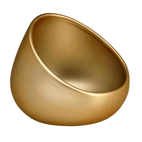 Newly Matte Gold Boom Bowl