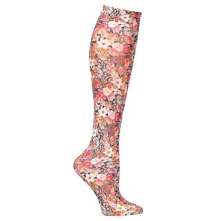 Celeste Stein Mild Compression Knee High Stockings, Wide Calf - Tiny Flowers - One size