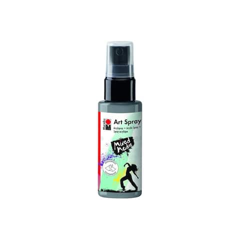 12099005082 marabu mixed media art spray 1 7oz silver
