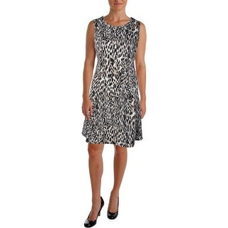 Calvin Klein Womens Plus Sleeveless Knee-Length Wear to Work Dress - 18W