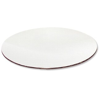 """Pack Of 100, 12"""" Cake Pad Circles White Corrugated Board Made In Usa"""