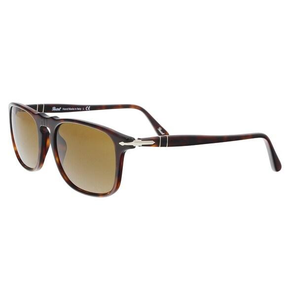 d7c942e7f0 Shop PERSOL PO3059S 24 33 Havana Rectangle Sunglasses - 54-18-145 ...