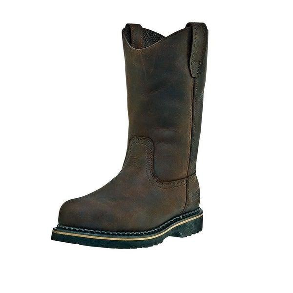 2ac51aaa662 McRae Industrial Work Boots Mens Wellington Steel Toe Brown