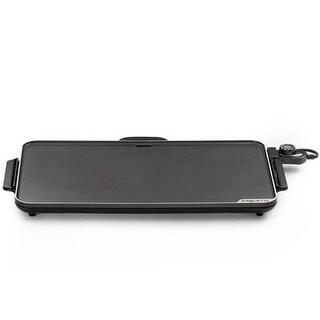 """Presto 07072 22"""" Electric Slimline Griddle - Cast Aluminum Base - Black"""
