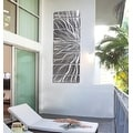 Statements2000 Silver Abstract Etched Metal Wall Art Sculpture by Jon Allen - Galactic Expanse - Thumbnail 11