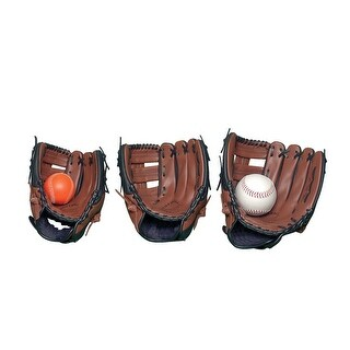 Sportime Yeller Adult Left-Handed Thrower Leather Baseball Glove, Ages 16 and up