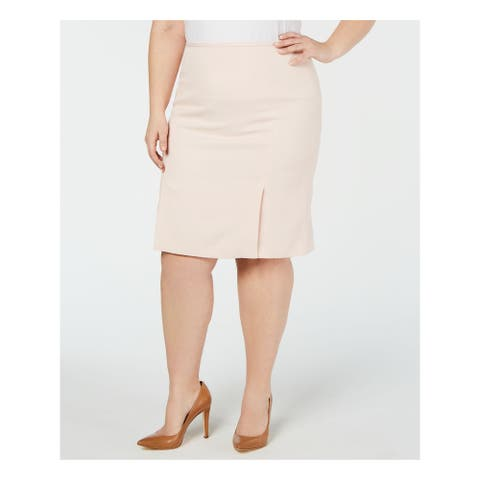 CALVIN KLEIN Womens Pink Below The Knee Wear To Work Skirt Size 16W