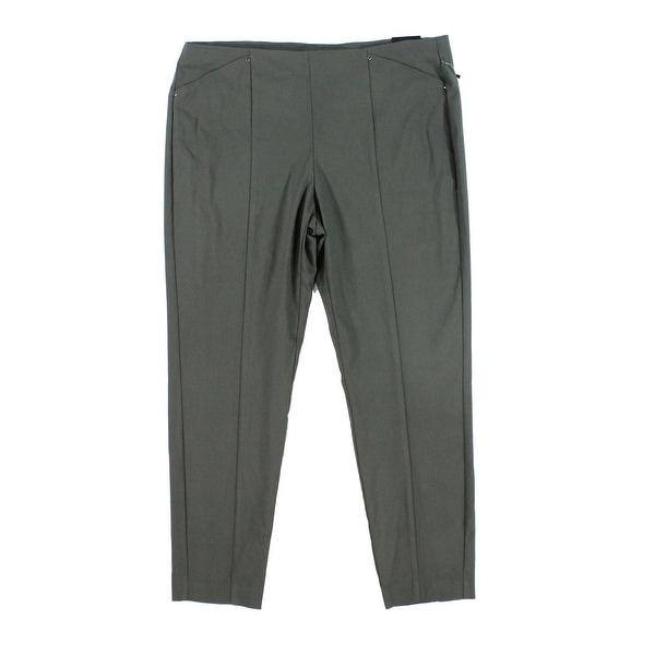 ab606f4e0869 Alfani NEW Green Womens Size 16 Seamed Skinny Urban Stretch Ankle Pants