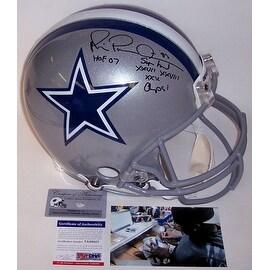Michael Irvin Autographed Hand Signed Dallas Cowboys Full Size Authentic Helmet - PSA/DNA