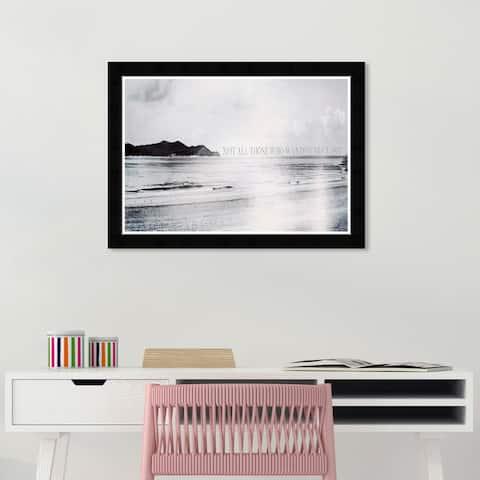 Wynwood Studio 'Lost Horizon Small' Nautical and Coastal Gray Wall Art Framed Print
