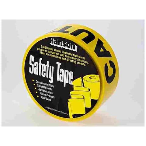 "CH Hanson 15000-2 Barricade Caution Tape Polyethylene, 3"" X 1000'"