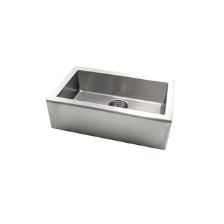 Jacuzzi AS-AP10LXUSUM Astracast? Apron Front Stainless Steel Single Bowl Kitchen Sink