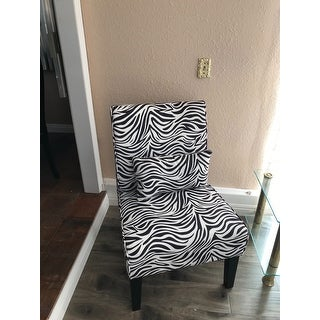 Shop Bella Zebra Accent Chair Free Shipping Today