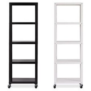 Lorell LLR34430 RTA Mobile Bookcase - White