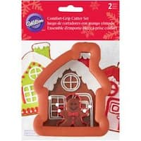 Gingerbread House W/Mini Gingerbread Boy - Comfort-Grip Cookie Cutter Set 2/Pkg