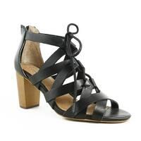 Corso Como Womens Gorgi BlackBrushedLeather Sandals Size 6.5